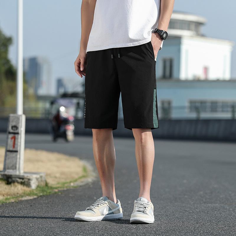 Erkek Şort Yaz Moda Eğilim Rahat Beş Noktası Pantolon Gençlik Yüksek Kalite Gevşek Streç Plaj Pantolon