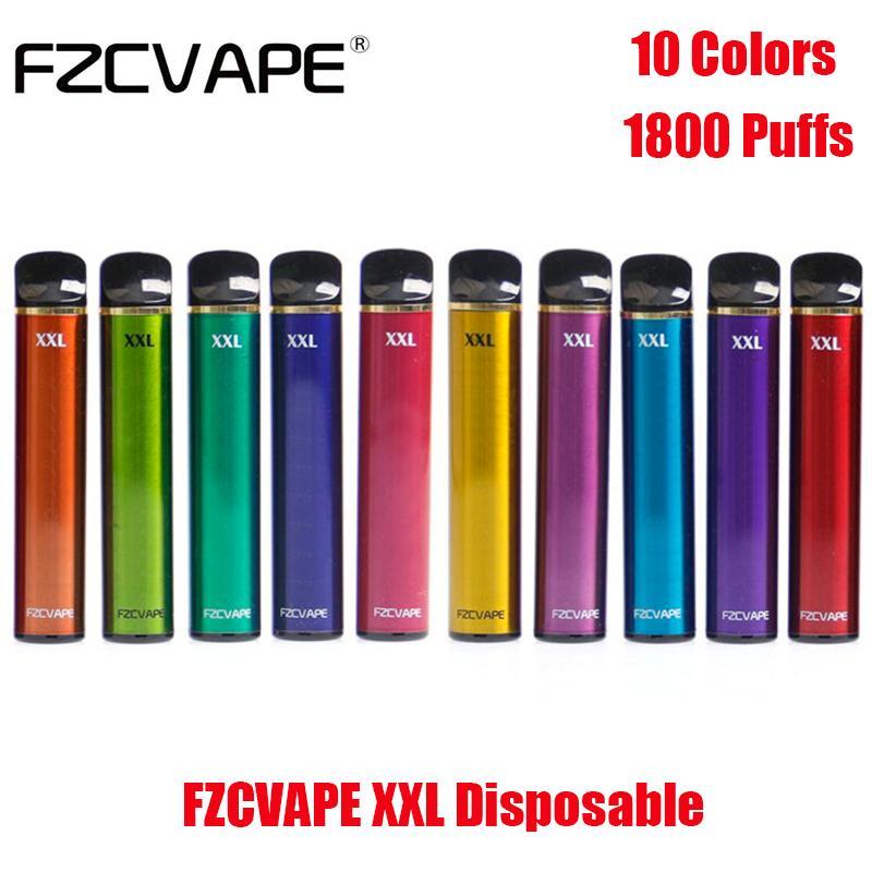 Originale FZCVAPE XXL Kit dispositivo di pod monouso E-sigaretta 1800 sbuffi da 1000mAh Batteria 5ml Cartuccia prerieduta 5ml Penna per bastone vape VS Bang Puff Plus Air Bar Max Autentico