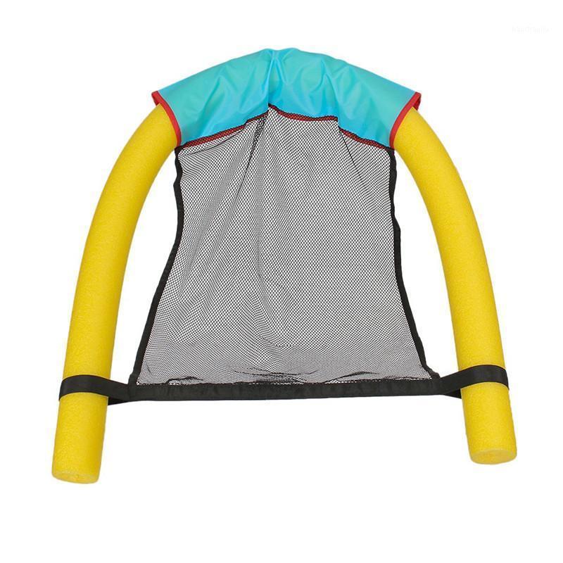 2 in 1 Schwimmbad Floating Sitze Stick Strong-Toyers Erstaunliche Bett Nudelstühle Netzschwimmen Ring Spaß Stuhl Poolzubehör 0.251