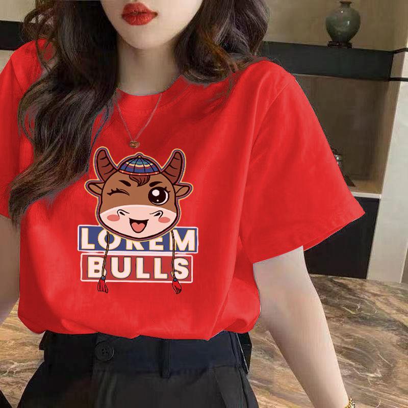 T-shirt coréen à manches courtes d'été Femme Student College Style Lâche 2021 Nouveau Top Première usure des femmes