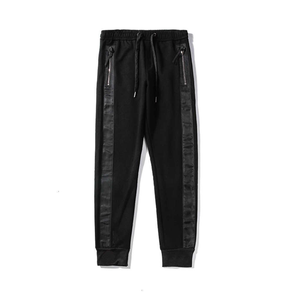 Famoso Mens Stylist Calças Alta Qualidade Mens Calças Estilistas Homens Mulheres All-Match Moda Fashion Black Sports Basculadoras