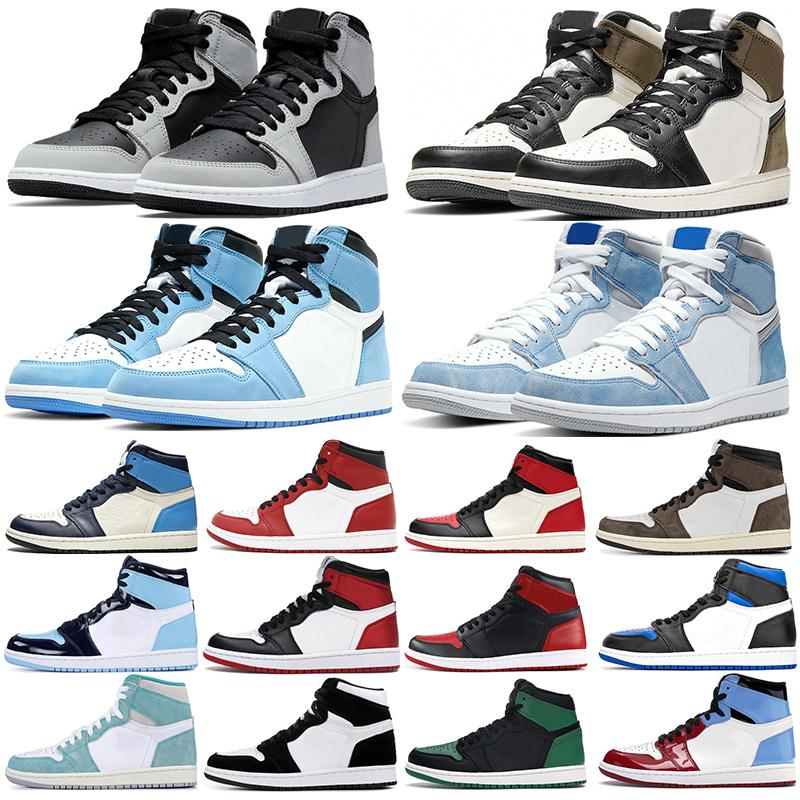 Jumpman 1 Chaussures de basketball 1S Hyper Roya University Blue Shadow 2.0 Dark MOCHA Obsidian Twist Hommes Femmes Formatrices Sneakers