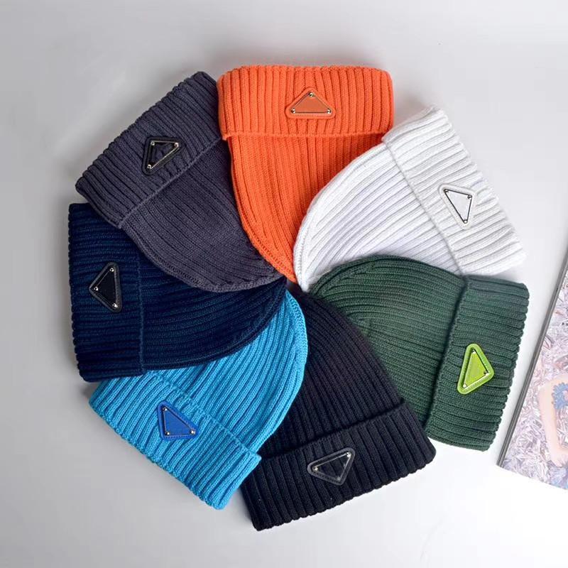 P designer mens beanie cap chapéu de luxo chapéu de malha chapéus ski chapéus snapback montados unisex inverno cashmere casual moda de alta qualidade 7 cor