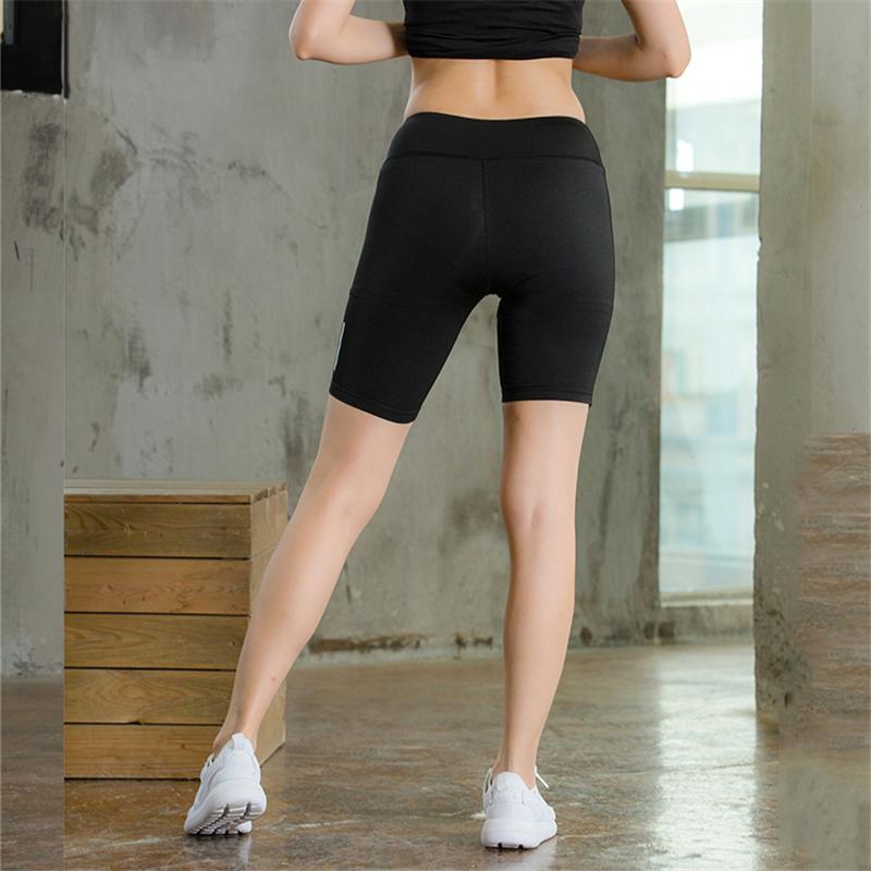 Mulheres Biker Shorts Reflexivo Noite de Verão Executando Cintura Elástica Fitness Skinny Casual Sexy Ginásio Sólido Pantalones