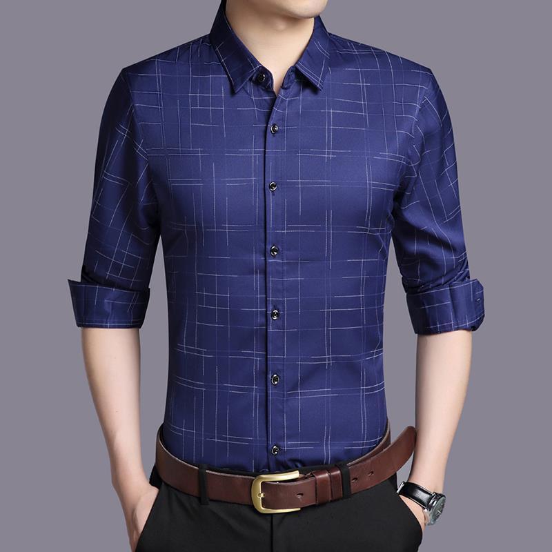 캐주얼 셔츠 비즈니스 남자의 긴팔 패션 옷깃 셔츠