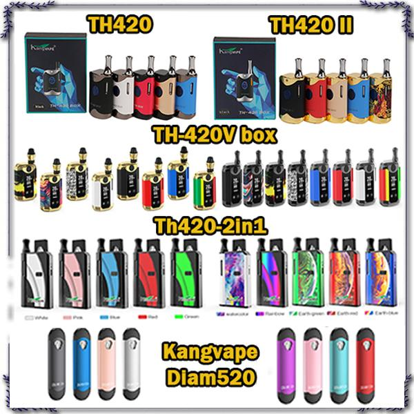 100% Original Kangovape Diam520 Th420 Th-420 II Th420 V Box Starter Kit VV Caixa de Bateria Mod Tanque de Cartucho de Óleo Espesso Authentic