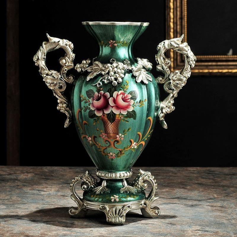 Стиль цветок ваза американская роскошь дом мебель для гостиной телевидение кабинет украшения декоративные синие стойки вина
