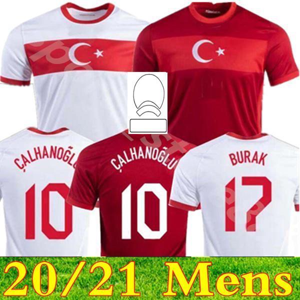 2021 2022 Türkei Fußball Jersey Arda Inan Tosun Tufan Erkin Malli Topa Calhanoglu Oztekin Custom Home Rot Fußball Hemd Uniform 20 21