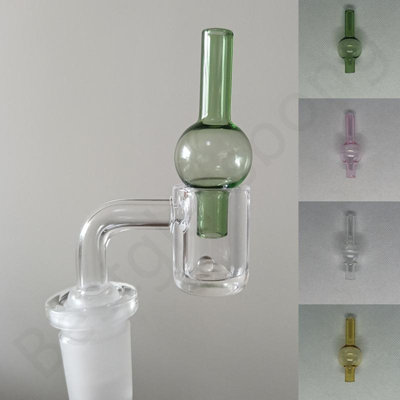 4mm thick domeless quartz banger nail Smoking flat top 14mm male frosted joint carb cap terp pearl bead for glass bong dab rigs