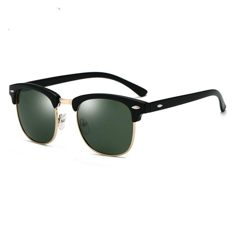 Lunettes de soleil polarisées Hommes Femmes 3016 Marque Design Eye Sun Lunettes Femmes Semi-Inn sans disques Classic Hommes Sunglasses Oculos de Sol UV400