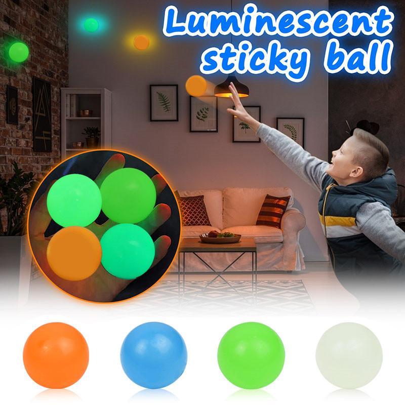 Decke kleber wandball leuchtende glühen in der dunklen party fluoreszierende quicky anti stress autismus ängstlich bälle dehnbare weiche squeeze erwachsene kinder spielzeug spielzeug