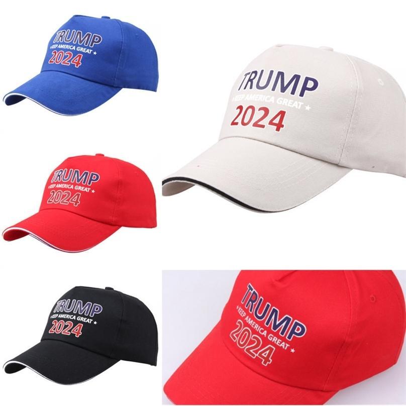 Trump Ajustable 2024 Hacer American Great Ball Gorras Diseñadores Mujeres Hombres Sombreros Snapback Maga Sports Hat Sun Viseras 2021 G333SKZ