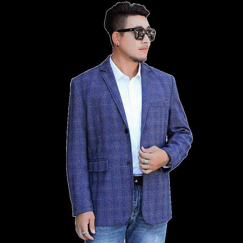 Oversized 8xl masculina xadrez blazer rua Casual Negócios Reunião Jacket Super Plus Size Blazers Homem Eventos Escritório Casacos Ternos