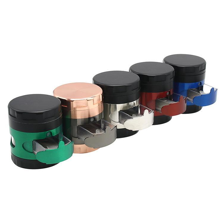 Molinillos con accesorios para fumar cajones Diámetro de la trituradora de humo de metal 63mm Cuatro capa Tobacco Grinder YL525