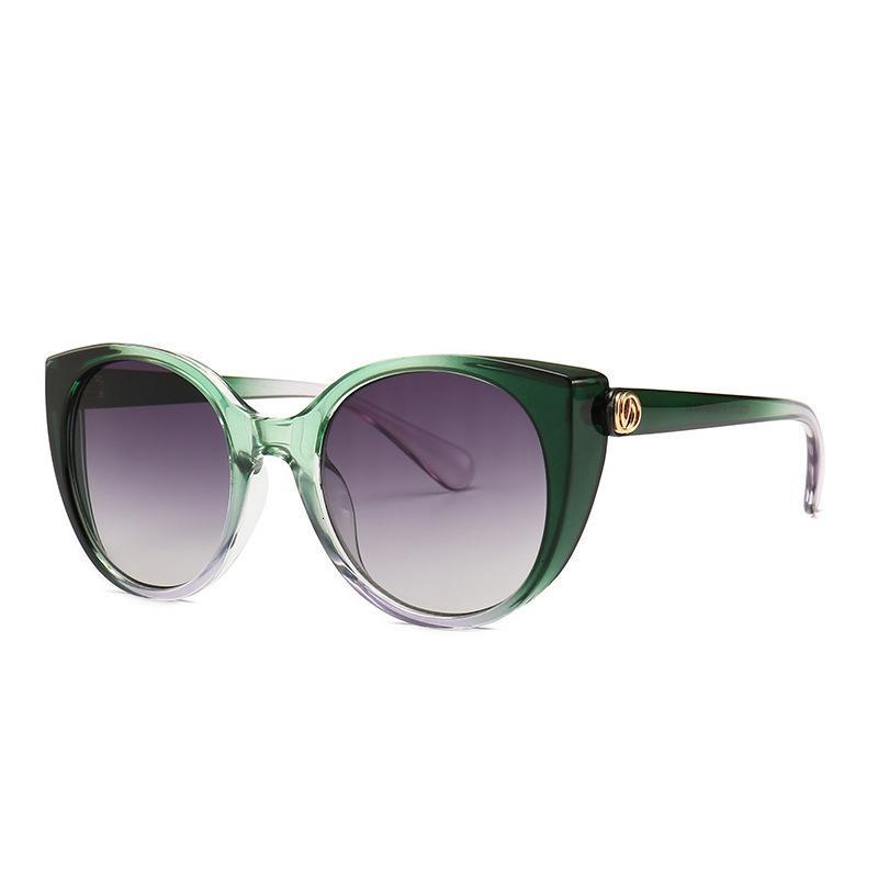 Sunglasses Cat's Overbled Quadro Mulheres Ocidente Ocidente Fadeamento Lente Sunscreen De Glass Street Mode Mostrando UVLJ