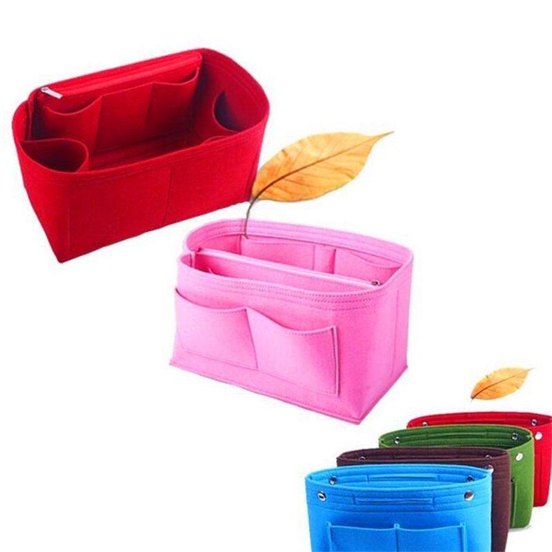 OBAG sentiu pano saco interno mulheres bolsas de moda multi-bolsos organizador de armazenamento cosmético sacos bagagem sacos de bagagem acessórios 504 R2