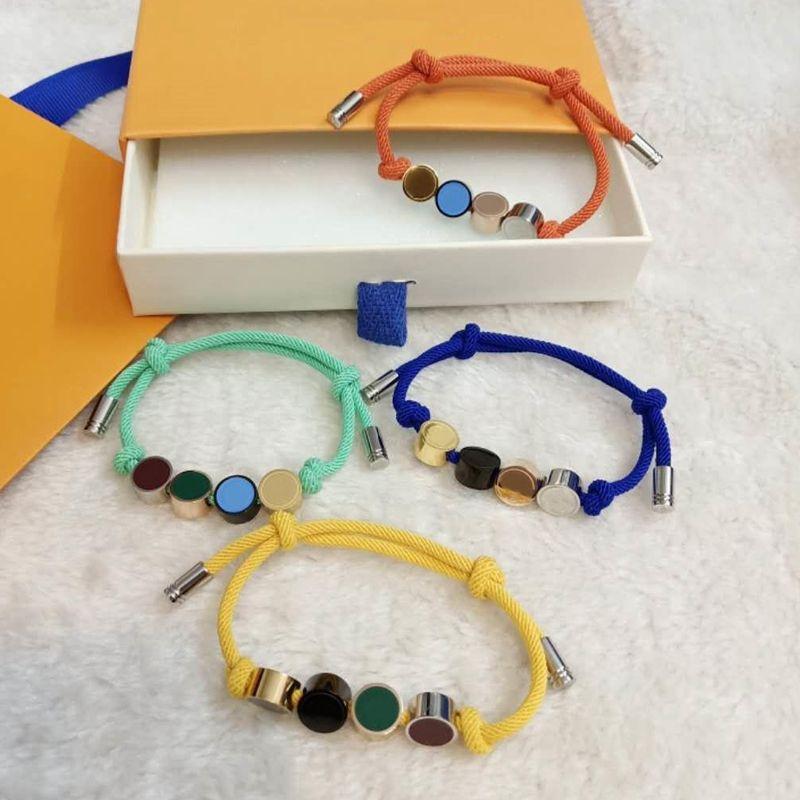 Bracelet unisexe Bracelets de mode pour homme Femmes bijoux Collier réglable Channel 4 couleurs