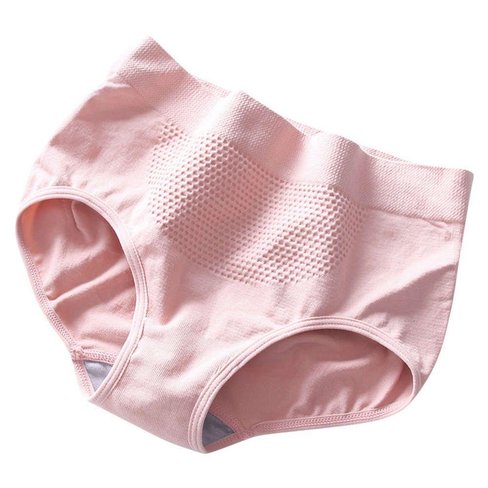 3D peach buttocks mid waist briefs honeycomb underwear warm palace buttocks anti light seamless women's underwear