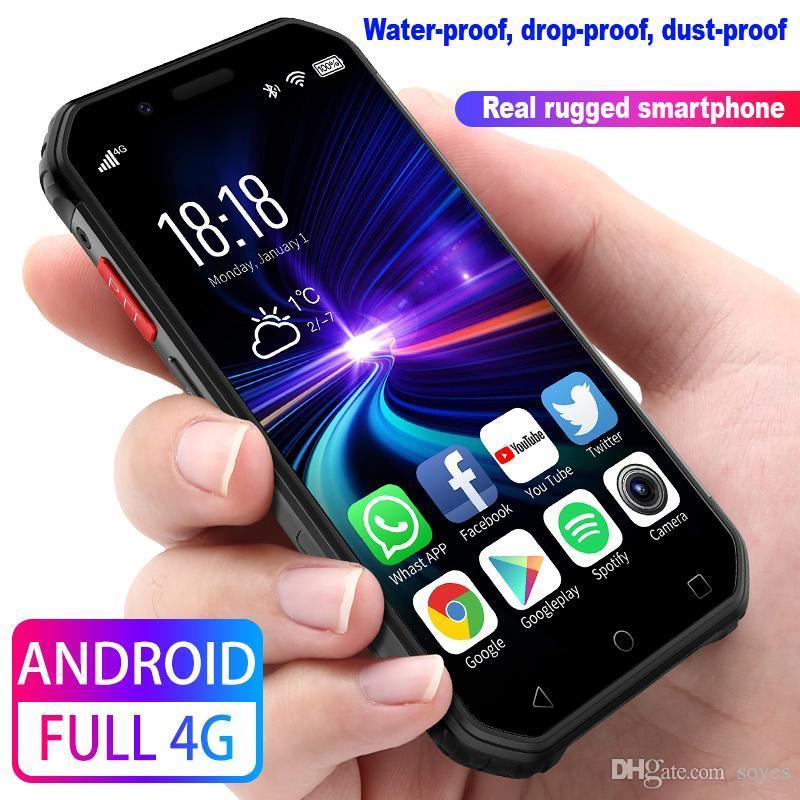 3.0 inch Rugged Smartphone 4G LTE 3GB+32GB Quad-Core Unlocked Android phone NFC Wifi GPS Fingerprint PTT FM BT SOS Face ID Waterproof Cellphone