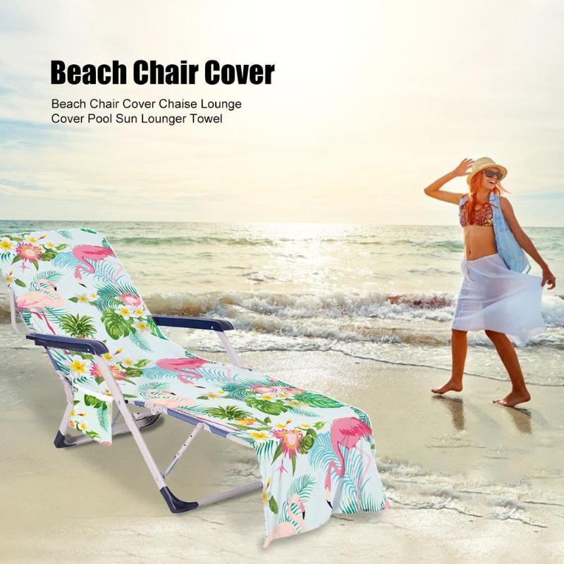 Cubiertas de silla 1 unids Cubierta de playa multifuncional Piscina Chaise Lounge Toalel para Sun Lounger Mate Holiday Garden