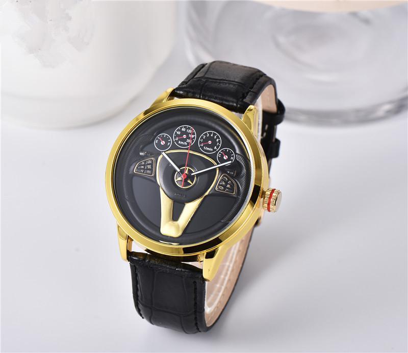 탑 브랜드 망 시계 파일럿 스포츠 크로노 그래프 남성 패션 쿼츠 손목 시계 방수 검은 시계