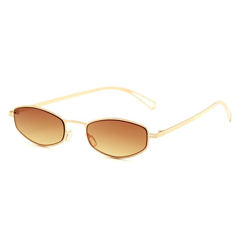 نظارات شمسية مربع خمر ماركة مصمم مرآة صغيرة خضراء للنساء المعادن العاكس عدسة شقة الإناث uv400