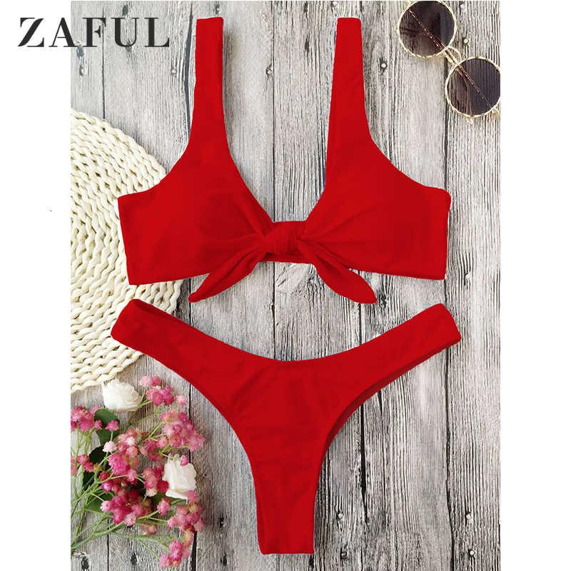 2021 Zaful mujeres sexy bikini conjunto traje de baño acolchado puntado thong traje de baño alambre libre cuello cuello baño baño baño