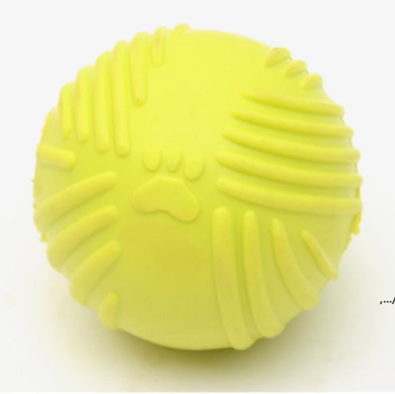 Footprint caoutchouc ballon de chien morsure de jouet résistant à mâcher à mâcher pour petits chiens jeux de chiot jouer stripsak interactif animal jouet dwa6134