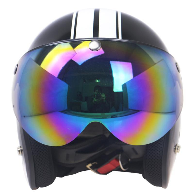 Motorcycle Helmets Universal Windproof 3-Snap Helmet Visor Front Flip Up Wind Shield Lens For Sunglasses