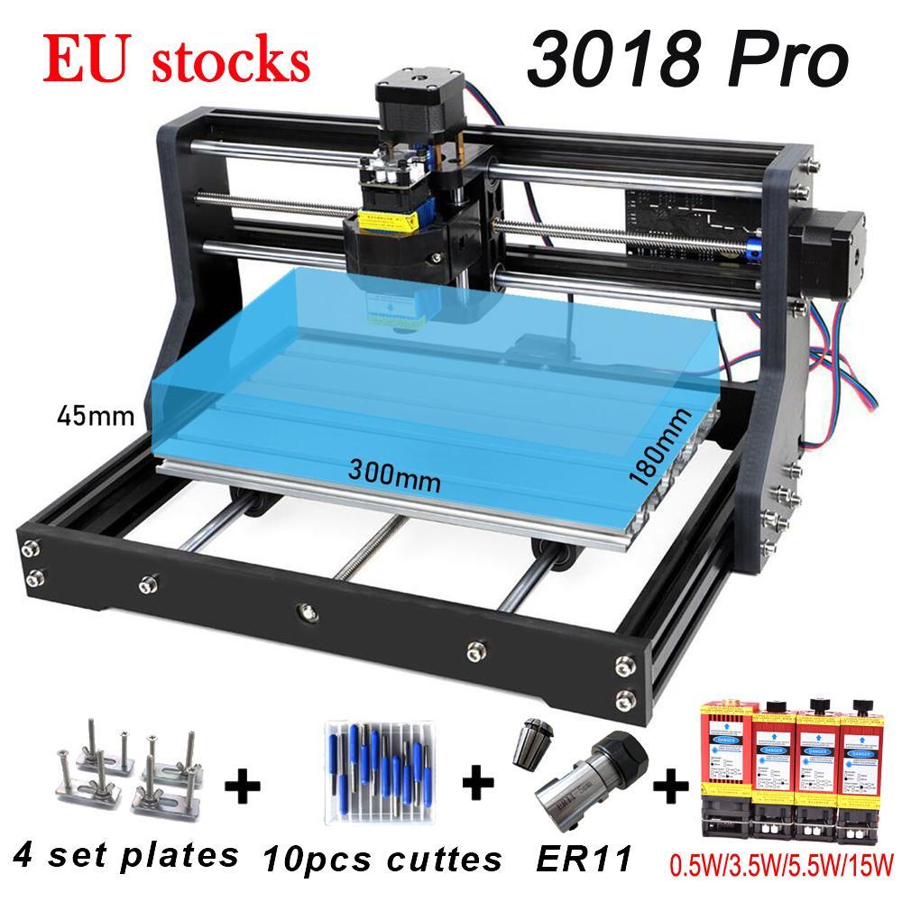 CNC 3018 PRO ER11 DIY 조각 조각 PCB 밀링 머신 목재 라우터 레이저 GRBL 제어 EU 주식