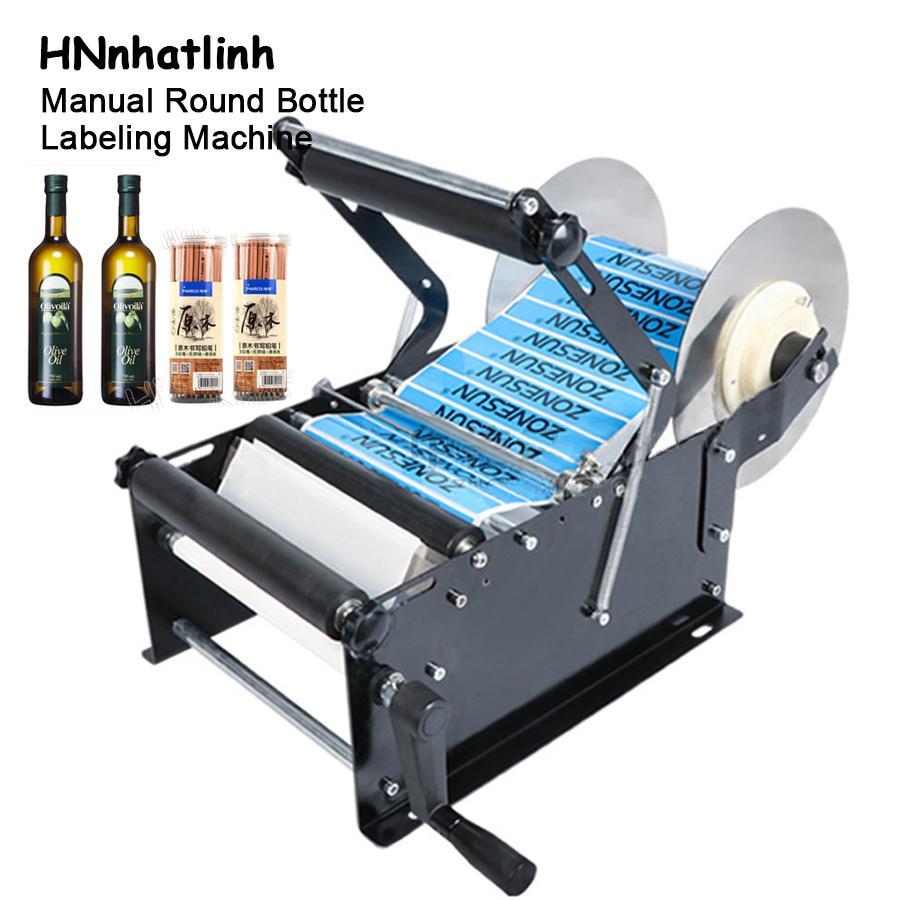 Equipamento de processamento de alimentos Máquina de rotulagem manual ZS-50W com alça de lidar com a garrafa de sanitizador de mão de plástico pode adesivo Aplicador de etiqueta de rotulagem 15-30bottles / min