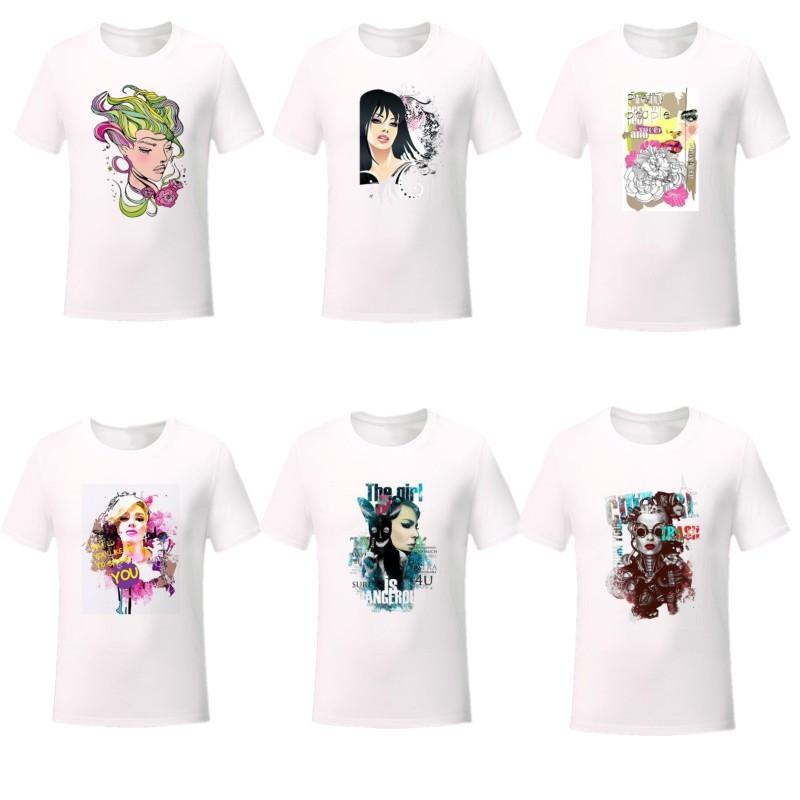 Camiseta de impresión de moda para mujer Trend Street de manga corta camisetas Tops diseñador Femenino Transpirable Thin White T Shirts Casual Ropa