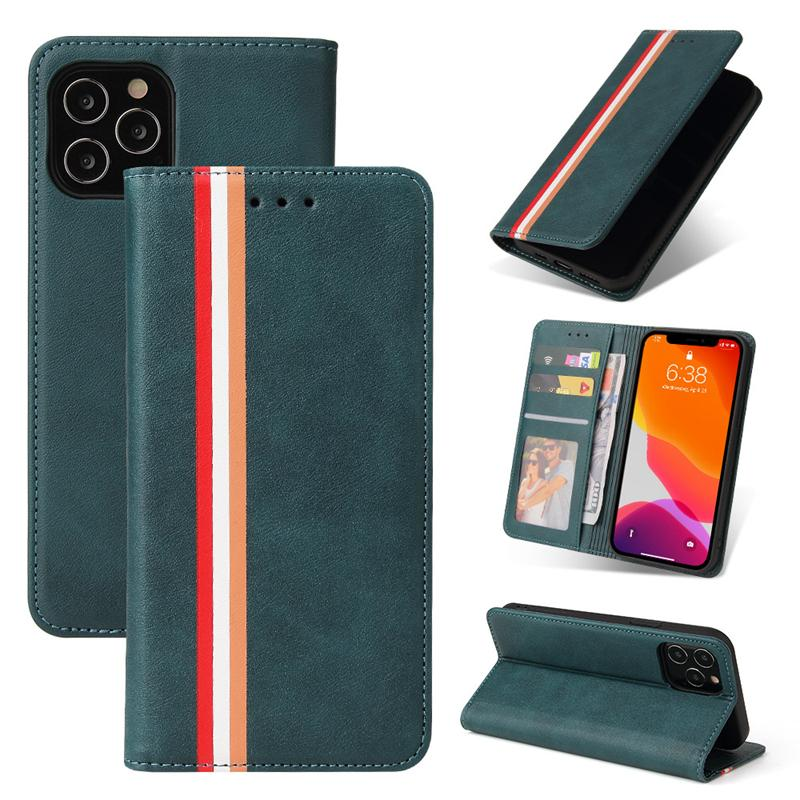 For Iphone 13 12 11 pro x xr xs max 8 7 6 plus mobile phone wallet PU leather cases pouch credit card slot photo frame cover for Samsung S21 ultra