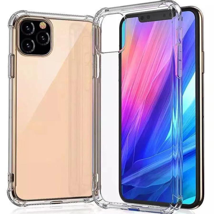 Casos transparentes de telefone claro compatível para coque iphone 13 12 mini pro max xs xr 11 8 7 mais samsung huawei xiaomi caso capa com 4 cantos proteção à prova de choque