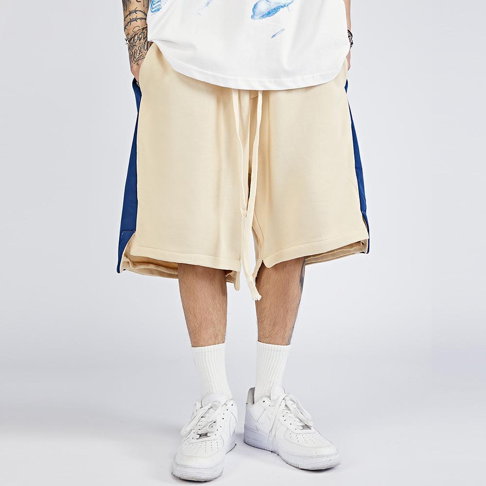 Moda Marca Contraste Shorts Shorts High Street Hip Hop Flow Capris Trend Sports Casual Pants