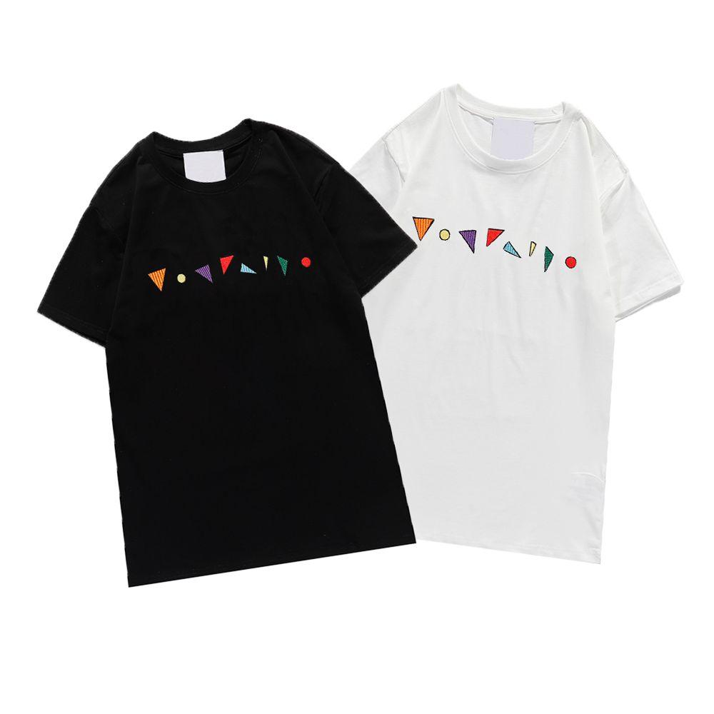 Kadın T Shirt Moda Tees Nefes Gevşek Kısa Kollu Rahat Desen Baskılı Lüks Tops T Shirt Yaz Toptan 2021