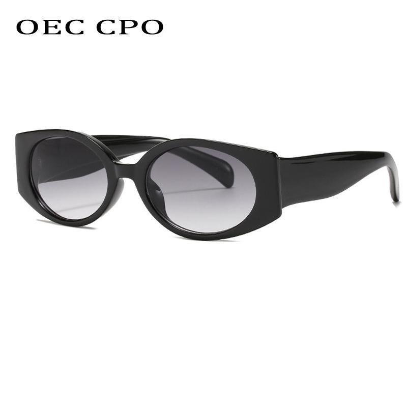 Vintage Cat Eye Occhiali da sole Donne Fashion Brand Designer OVAL Lente ovale Occhiali retrò femminile Gradiente Colori Oculos UV400