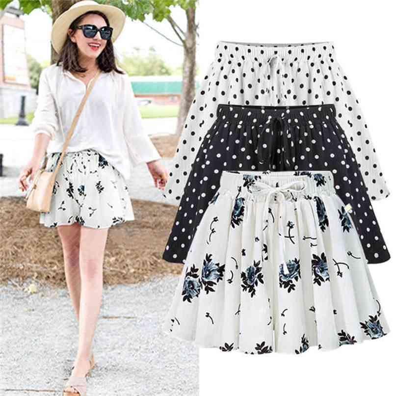 Women Wide Leg Shorts Female Summer High Waist Large Size Loose Casual Chiffon Short Pants Clothing 2222 210722