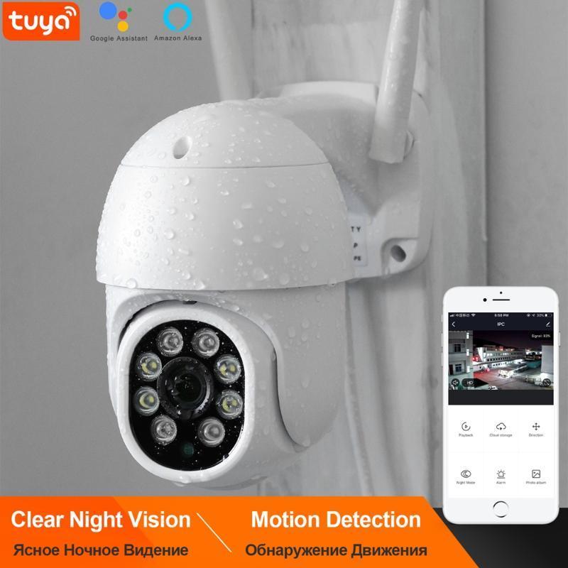 Kamera WiFi Dome Kablosuz 1080 P PTZ Kontrol Gece Görüş Hareket Algılama Bulut Depolama Desteği Alexa Google Ev Kameralar IP