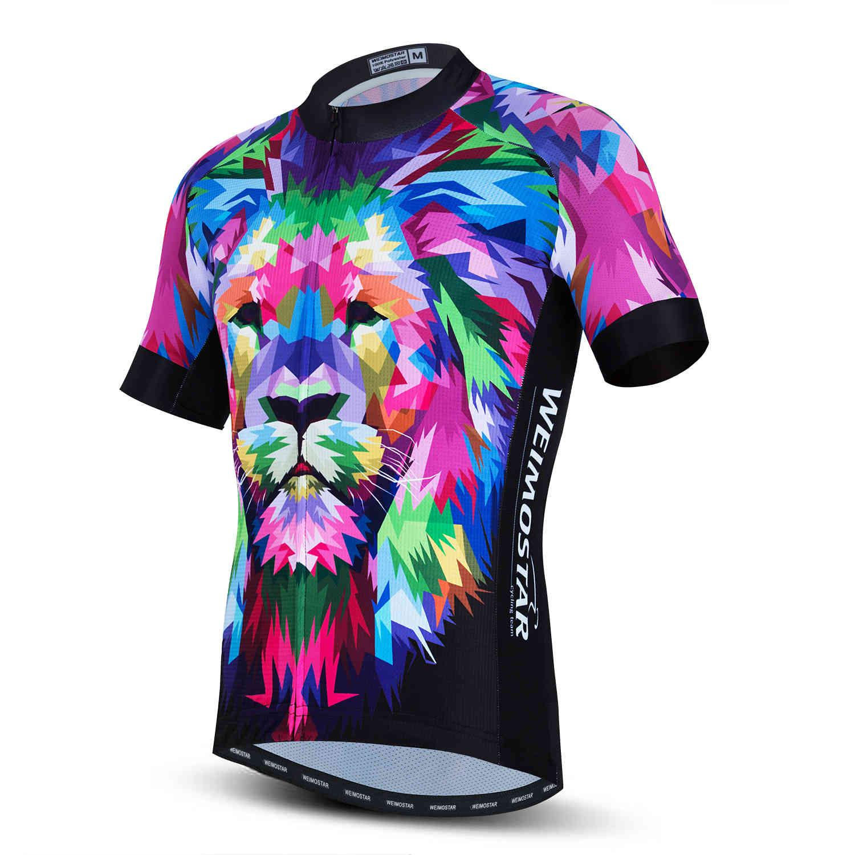 WeiMostar Motocross Top 2021 Велоспорт Джерси мужская MTB велосипедная рубашка велосипедная одежда Maillot Ciclismo Hombre Lion Wolf X0503