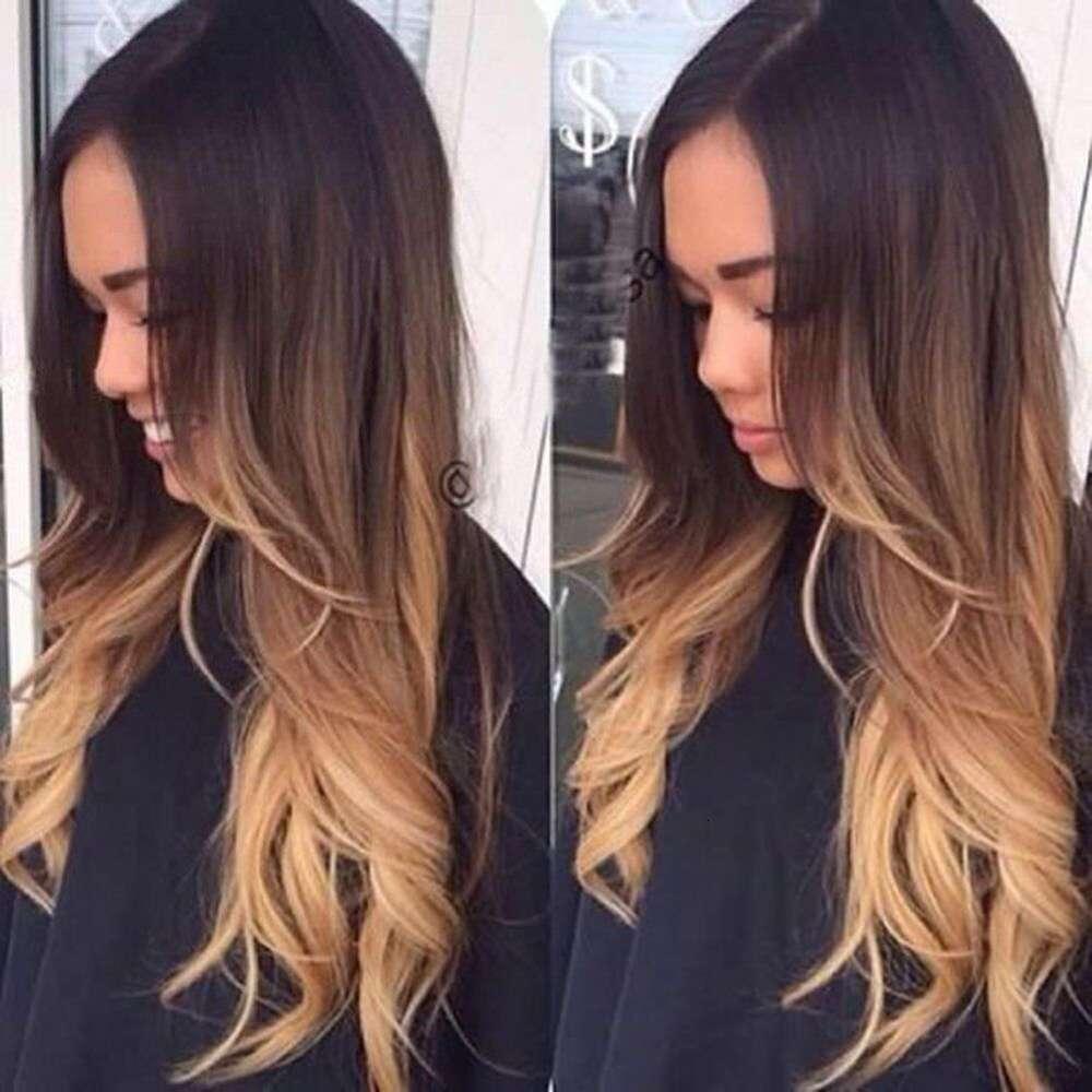 Pelucas Pelucas de fibra química de mujer Rose Net Big Wave Curly Hair Golden Falso Headgear