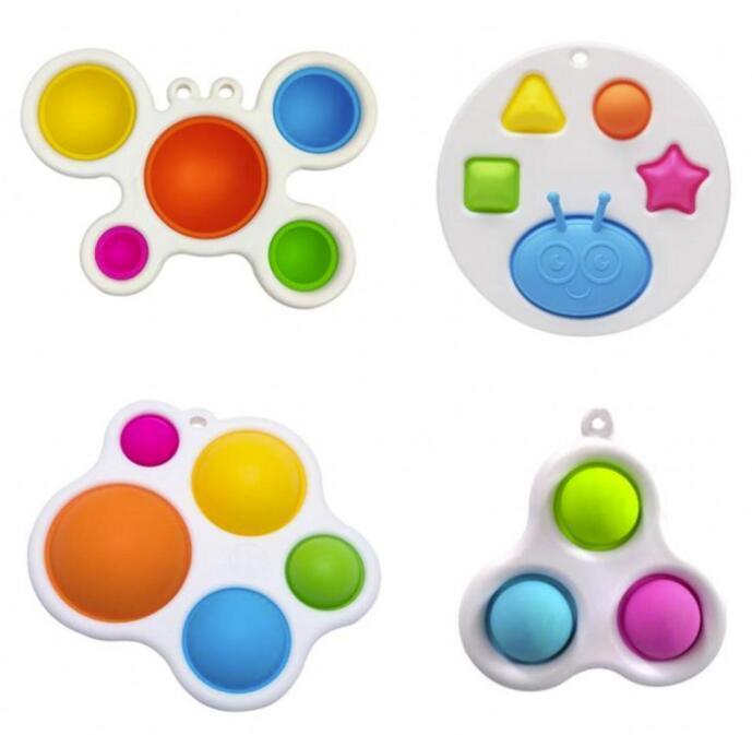 W magazynie Party Favor Dziecko Sensory Proste Zabawki Dutro Dekoracji Prezenty Dorosłych Dziecko Śmieszne Anti-Stres Naprężenia Reliver Push Bubble Fidget Toy FY9402