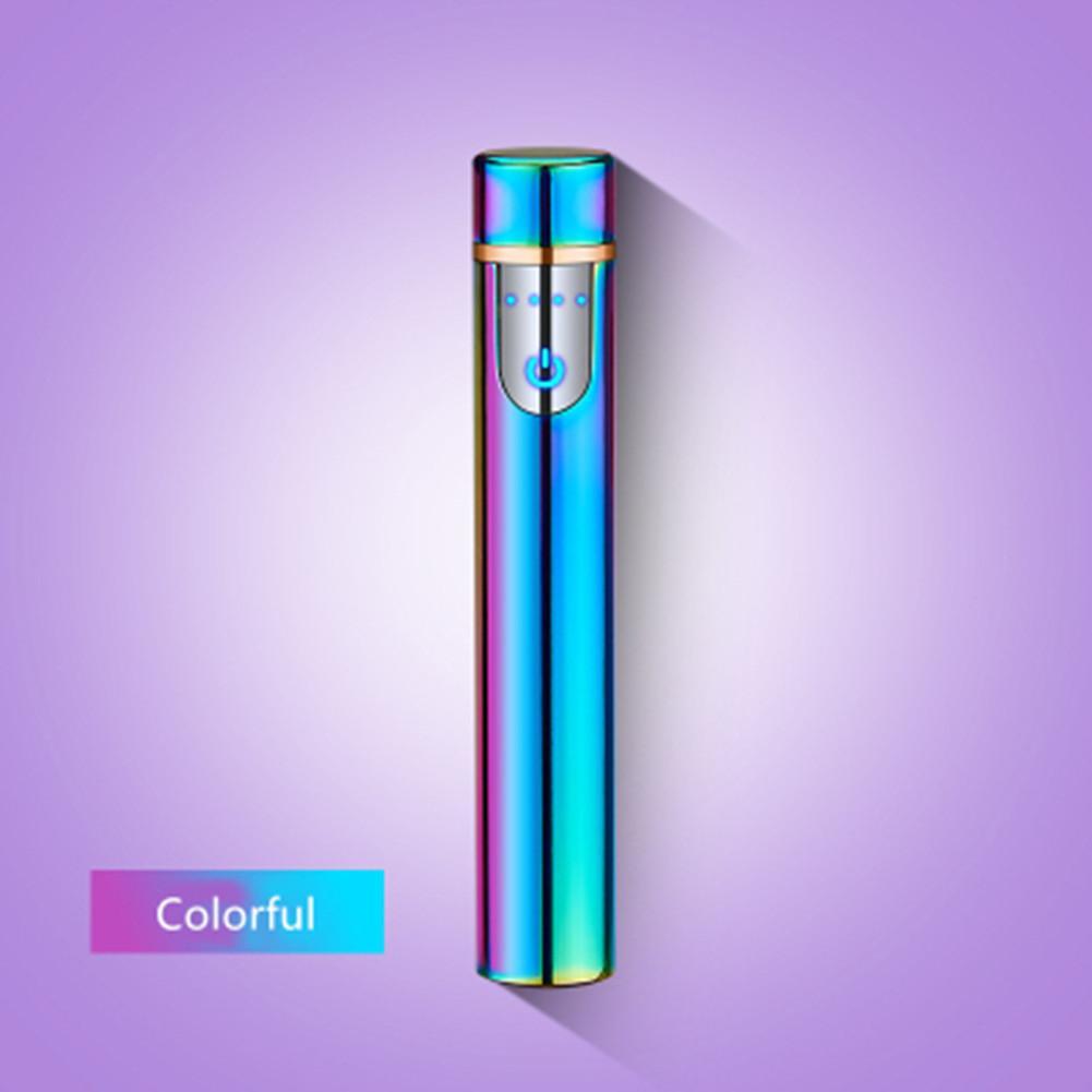 Мини светодиодный гаджет USB легкий палец сенсорные индукционные электрические сигареты тонкие ветрозащитные металлические аккумуляторные зажигалки гаджеты для мужчин