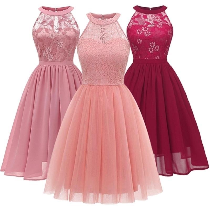 Graduação cerimônia vestido de renda crianças festa princesa vestido roupas formal eventos chiffon cerimônias vestidos para roupas de menina 210319