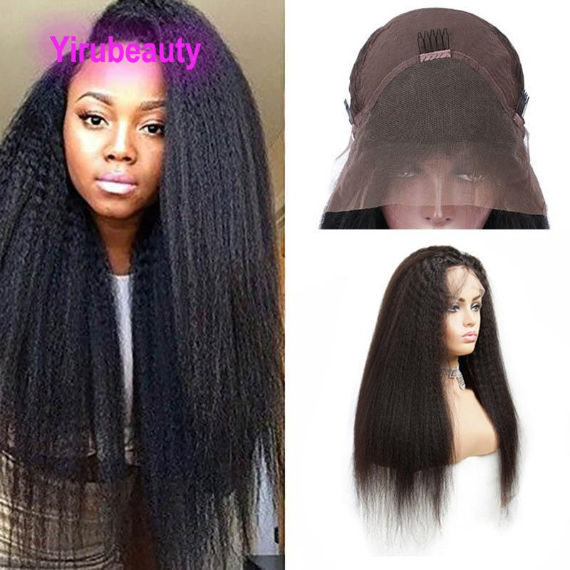 Indian Raw Virgin Human Hair Unprocessed 9A 13X4 Lace Front Wigs Kinky Straight Yirubeauty Lacec Front Wig Natural Color 8-30inch