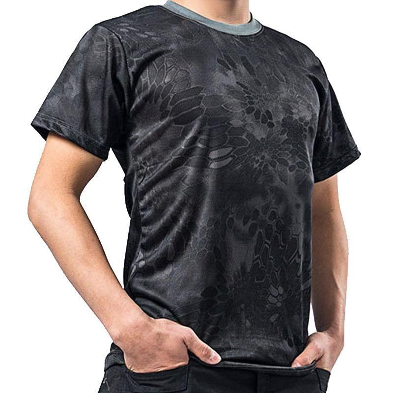 Men's T-Shirts Camouflage T Shirt For Men Fashion Summer Mens Clothing O-neck Print Short Sleeve Shirts Tshirt