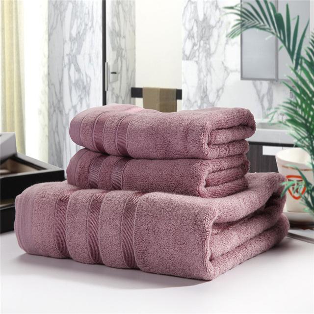 Asciugamano da bagno solido set di cotone di bambù 1pc asciugamano da bagno + 2pcs Asciugamano Asciugamano Asciugamano Asciugini Asciugacapelli Casa Tessile Accessorio per il bagno