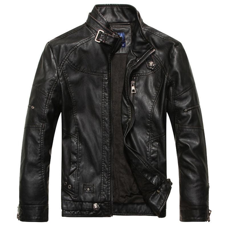 2021 Fur Outono Designer de couro de moda de moda jaqueta homens plus size winter warm leathe casaco m-3xl