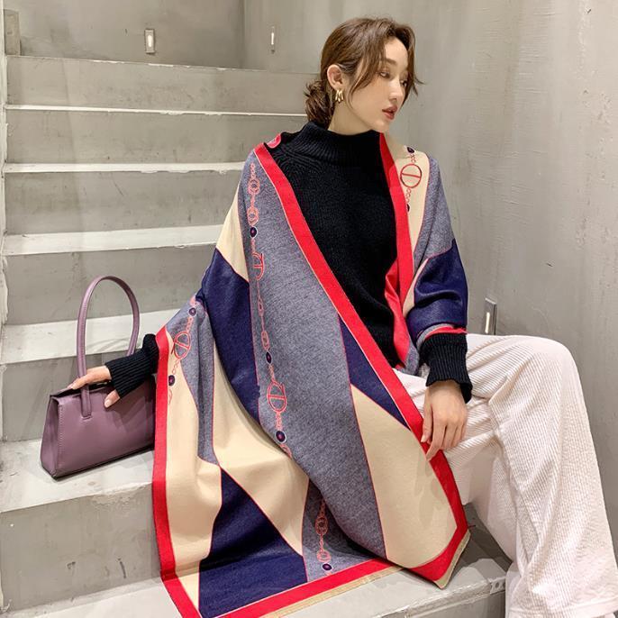 2020 Sciarpa invernale Donna Cashmere Sciarpa New Fashion Warm Foulard Lady Horse Sciarpe Colore Corrispondenza Addensare Soft Scialli Scialli involontaria