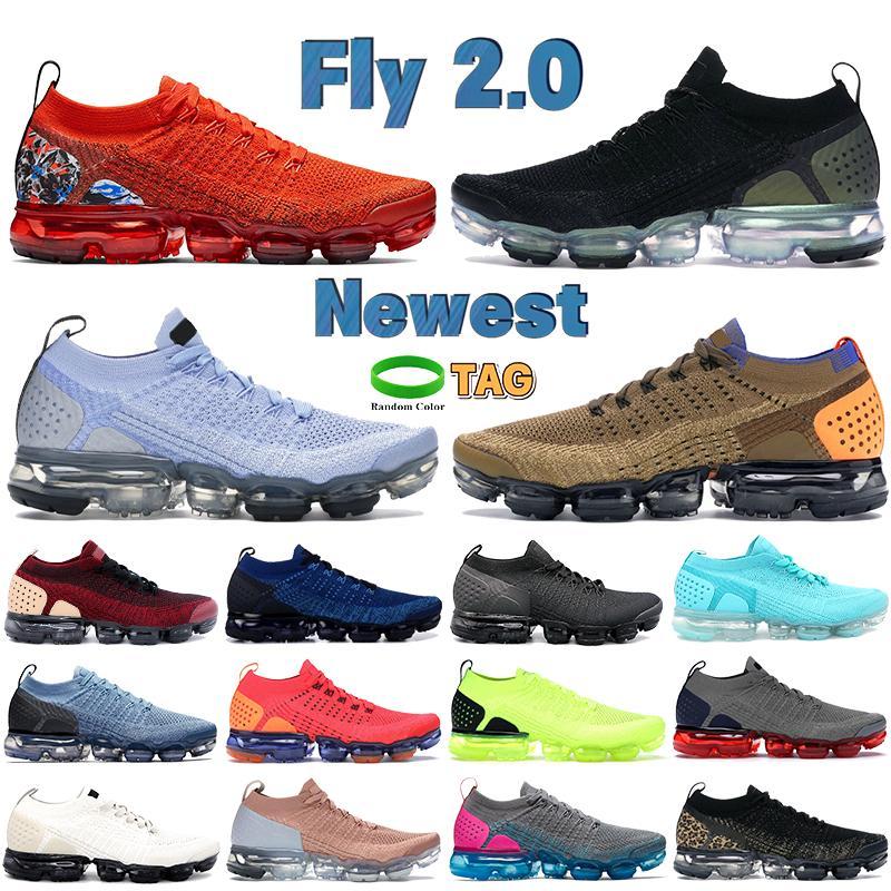 Mais novo Fly 2.0 Homens Correndo Tênis Preto Metálico Salto De Prata Equipa Gráfica Equipe Alunminum Gym Azul Mens Mens Mulheres Sneakers Treinadores